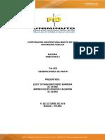 Tributaria 2 Taller Generalidades de Renta - Tatiana Brochero Andres Felipe Riveros