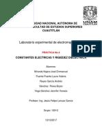 Informe 4  CONSTANTES ELECTRICAS Y RIGIEDEZ DIELECTRICA   Electromagnetismo