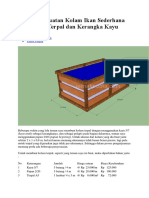 Biaya Pembuatan Kolam Ikan Sederhana dari bahan Terpal dan Kerangka Kayu.docx
