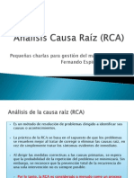 Analisis Causa Raiz (Rca)