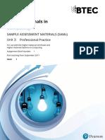 Unit 3 Professional Practice SAM LO1-3