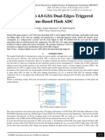 A 2.6-mW 4-b 4.8-GS/s Dual-Edges-Triggered Time-Based Flash ADC