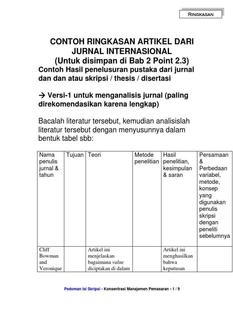 184813409 Contoh Ringkasan Artikel Dari Jurnal Internasional Docx