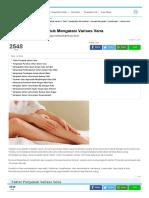 10 Obat Rumahan Untuk Mengatasi Varises Vena
