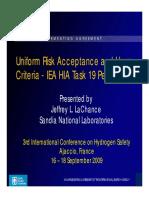 Uniform Risk Acceptance and Ham Criteria