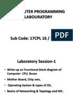 Computer Programming Laboratory-17cpl16