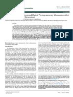 2018 'Paper' Patel Et Al. - Validation of 2D Digital Photogrammetry Measurement for Hand Anthropometric Dimensions