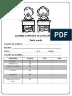Examen Olimpiada de Conocimiento 2018-Me-2018