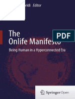 Floridi Luciano the Onlife Manifesto Being Human in a Hyperconnected Era