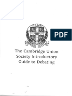 Cambridge Debate Bp Format and Basic Argumentation