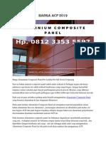 Harga ACP 2019 Hp. 0812 3353 5597