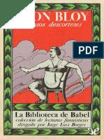 La Biblioteca de Babel 04 Bloy Leon Cuentos Descorteses 18898 r1.2