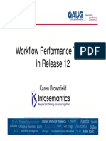 Workflow Performance Tuning in Release 12.1