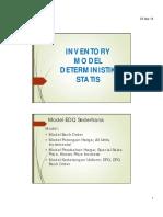 2-3.Model Deterministik Statis