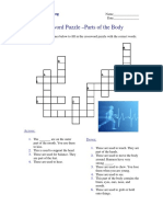 Crossword Puzzle - Parts of the Body.pdf