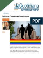 Lgbt o No l'omosessualismo Avanza