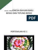 Kue Indonesia Bahjan Baku Beras Dan Tepung Beras