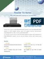 Yeastar TG Series Datasheet En