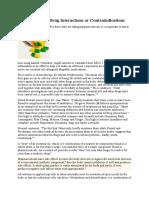 Interactiunea Medicamentelor Cu Uleiurile - Contraindicatii