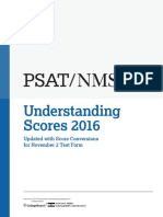 2016 PSAT NMSQT Answers and Score Conversion