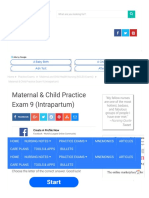Maternal & Child Practice Exam 9 (Intrapartum)