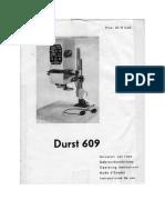 Durst 609 instruction booklet