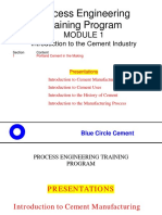 Mod 1-Introduction to the Cement Industry