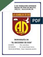 Caratula Mas Monografia El Escudero de Dios