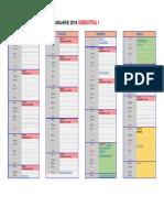 Calendar an Universitar Semestrul 1