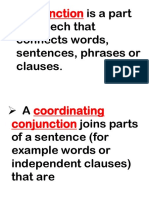 Conjunction is a Part of Speech That Connects Words