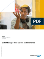Data Manager User Guides and Scenarios