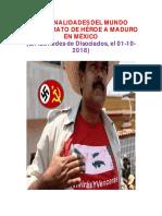 Personalidades Internacionales Exigen Trato de Héroe Para Maduro en México (2018)