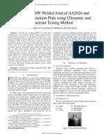 Testing an FSW Welded Joint of AA2024 and AA6082 Aluminium Plate using Ultrasonic and Penetrant Testing Method