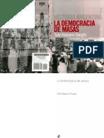 Historia de La Argentina La Democracia de Masas