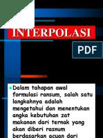 Interpolasi (Materi Minggu Ke-2)