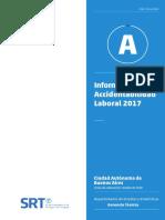 Informe Anual de Accidentabilidad Laboral - Año 2017