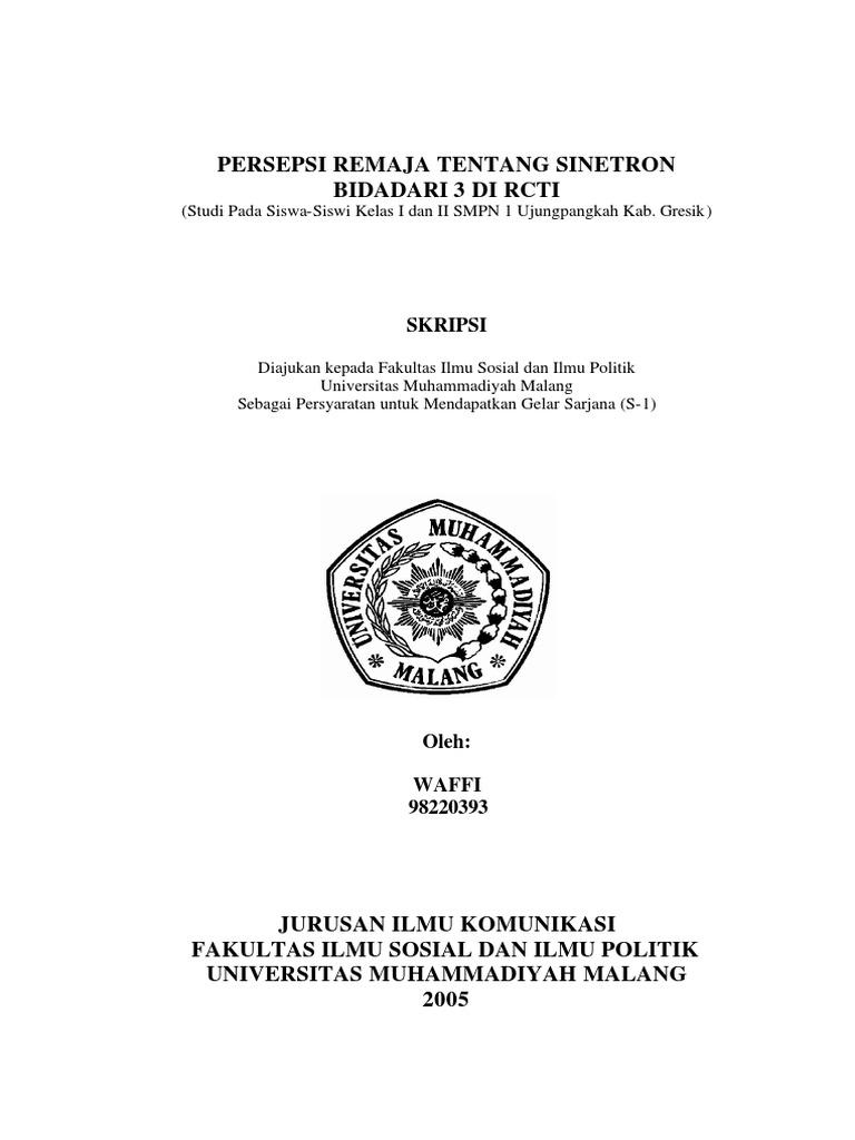 Contoh Skripsi Ilmu Komunikasi Tentang Persepsi Pejuang Skripsi