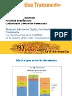 Tapia - Simposio Educación Digital, Postverdad y Narrativa Transmedia - SVDMQE 2018 - VERSION LARGA