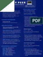 Guy Peer Software Engineer CV