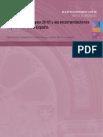 El Semestre Europeo 2018 y las recomendaciones específicas para España