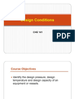 Lecture 3- Design Conditions