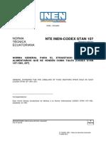 Nte -Codex Stan 107-Aditivos
