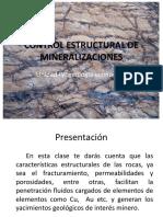 Estructuras Geológicas y Mineralización
