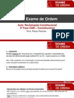 Aula 4 - Reclamacao Constitucional - XXVI