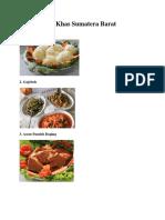 15 Makanan Khas Sumatera Barat