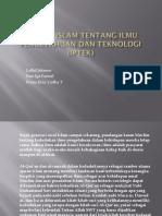 Konsep Islam Tentang Ilmu Pengetahuan Dan Teknologi (