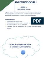 2.- P.S. Proyeccion Social y Extension Universitaria