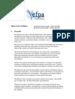 EFPA Code of Ethics