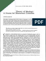 Makus - Stuart Hall's Theory of Ideology