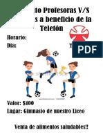 Afiche Futbol Mujeres